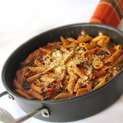 Penne With Spinach And Vodka Cream Sauce