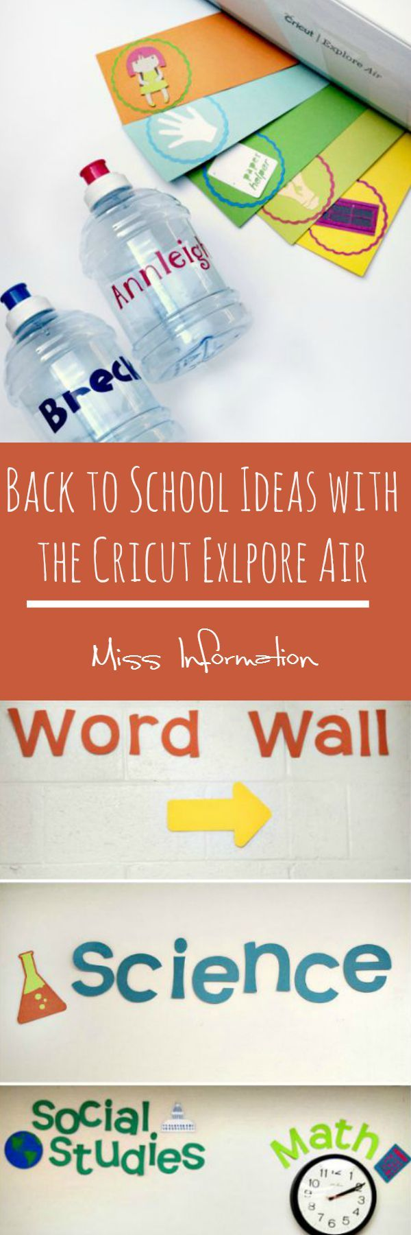 Classroom Ideas Using Cricut ~ Cricut explore air back to school ideas