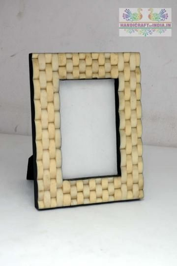 Capture your precious memories with suitable photo frame. This one certainly deserves a shot with its yellow color it is made up of resin