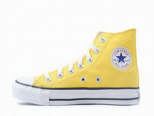 Classic Yellow Converse Chuck Taylor High Top Canvas Shoes
