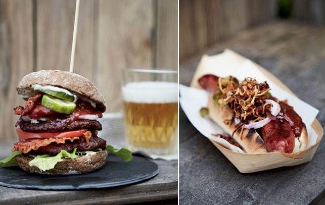Inviter vennerne på luksus grillmad hjemme i haven med porchetta burger, gourmet hotdogs og meget mere.