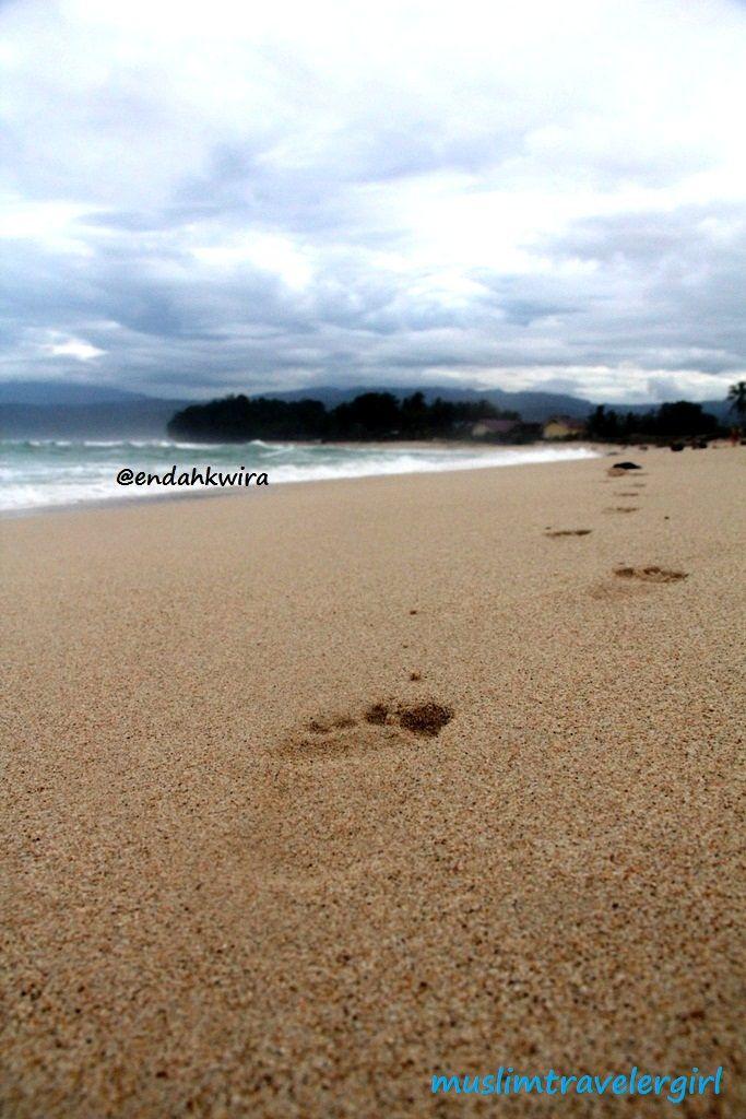 Krui beach in Lampung Barat, Lampung