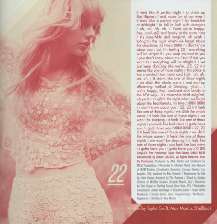 22 lyrics