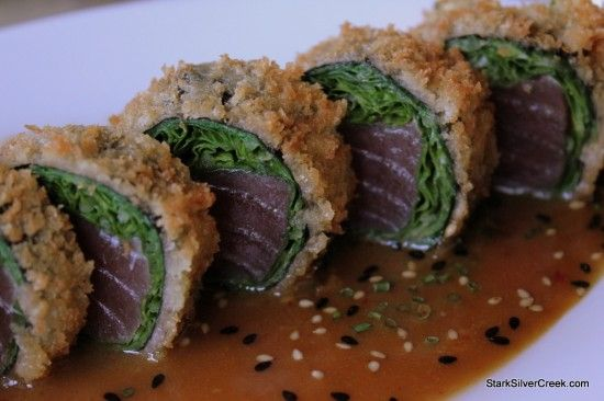 Panko Crusted Ahi Sashimi Sushi Roll recipe :) Yumm!