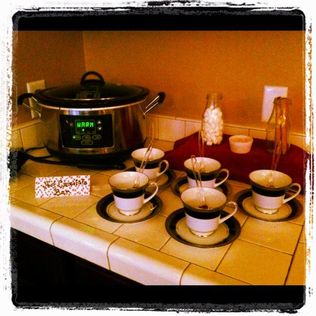 Hot chocolate barHot Chocolate, Winter Wedding