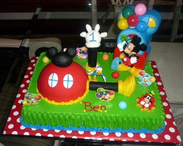 mickey birthday cake ideas