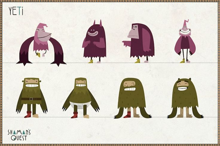 Concepts of Yeti #character #concept #animation #yeti