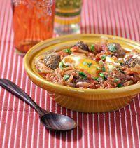Tajine de keftas aux oeufs - Recettes de cuisine Ôdélices #ramadan #keftas #tajine
