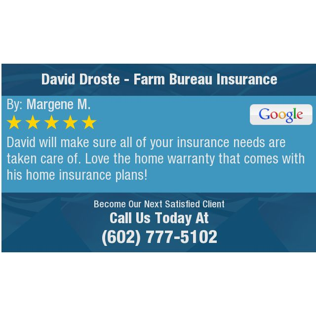 David will make sure all of your insurance needs are taken care of. Love the home warranty...