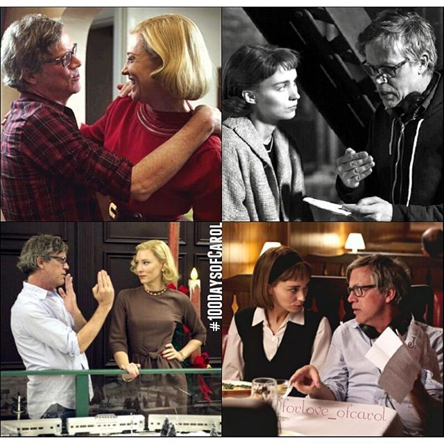 Director Todd Haynes. Through his vision he brought to life the screenplay adapted by Phyllis Nagy from the novel by Patricia Highsmith.  #100daysofcarol .  #day17 #day17of100 #carol #carolthemovie #carolaird #theresebelivet #carolandtherese #belaird #cateblanchett #rooneymara #toddhaynes #director #onset #pixlredit #forloveofcarol