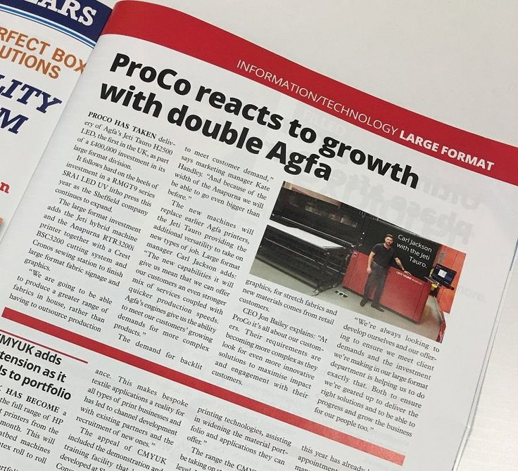 Pick up a copy of @PrintBusiness mag to read about our new Jeti Tauro H2500 LED #LargeFormat press