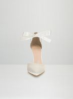 Womens *Chi Chi London White Tie Up Court Shoes- White