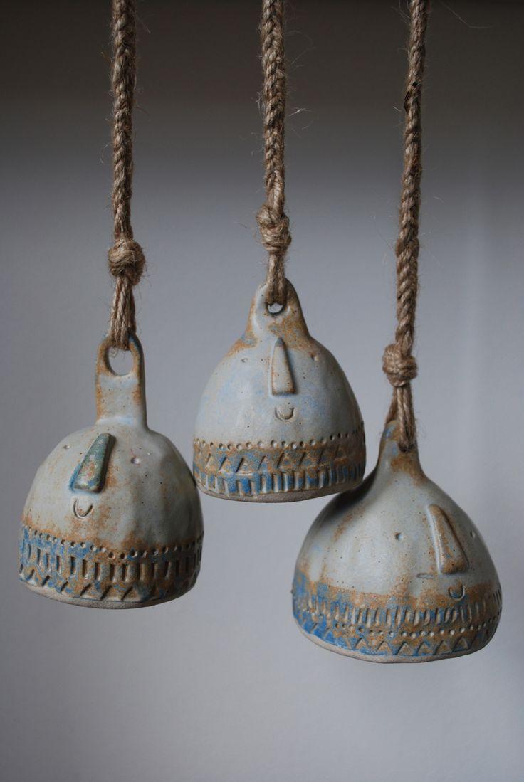 Ceramic bells. Atelier Stella.: Atelierstella, Idea, Ceramic Bells, Windchimes, Ceramic, Ceramics, Stella Workshop