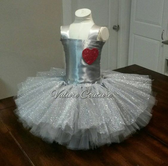 Tin Man The Wizard Of Oz Inspired Tutu Dress by ValureCouture Disney Halloween Costume Pageant Dance Christmas Gift Birthday Newborn Baby Infant Toddler Youth Alice In Wonderland Queen Of Hearts Mad Hatter Wicked Witch Glenda Toto Big Bad Wolf Little Red Riding Hood Wizard Of Oz Dorothy Tin Man Scarecrow Cowardly Lion