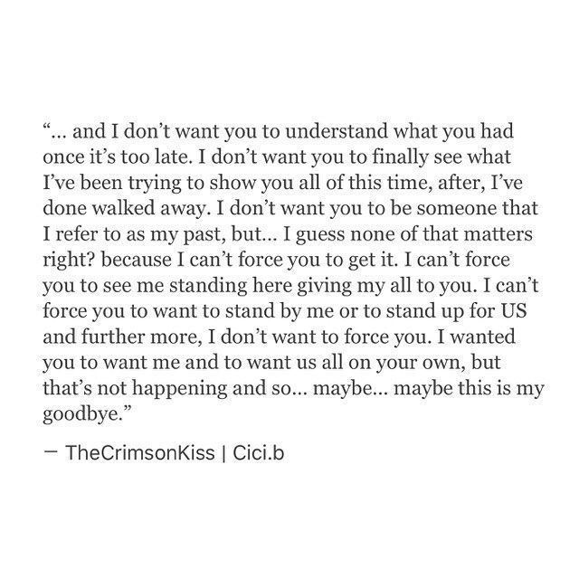 Maybe... this is my Goodbye •  #Cicib #thecrimsonkiss