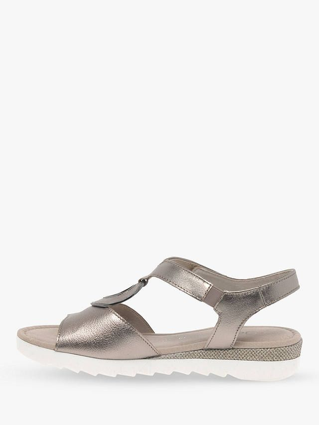 e2d376c0e68 Gabor Ellis Wide Fit Low Wedge Sandals, Pewter in 2019   Sandals for ...