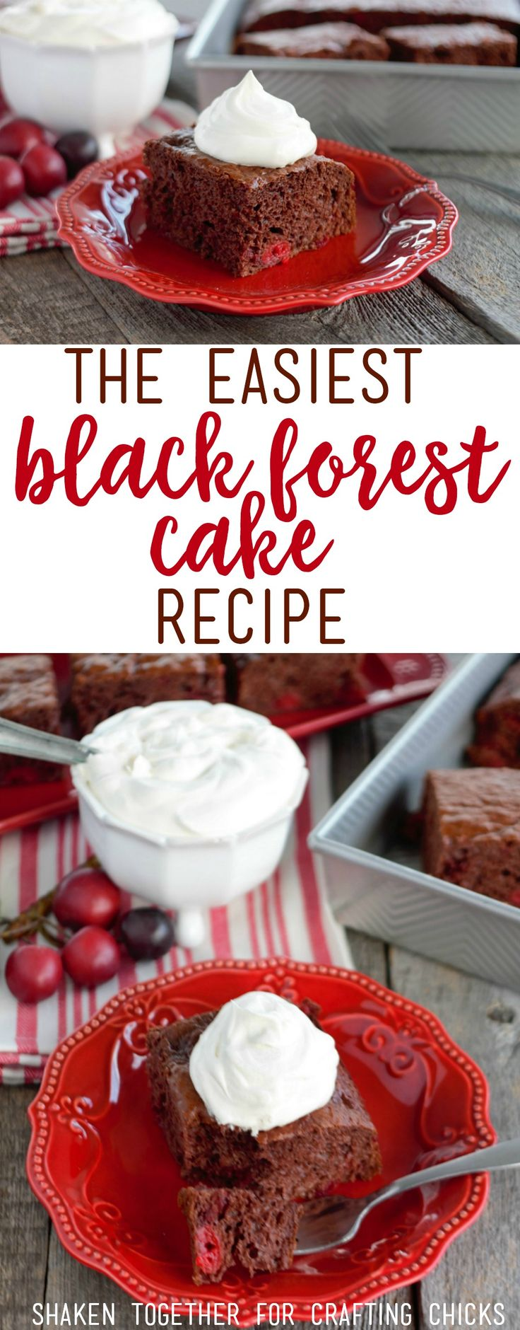 Need an unbelievably easy dessert? You'll love this Black Forest Cake Recipe with just 4 ingredients!
