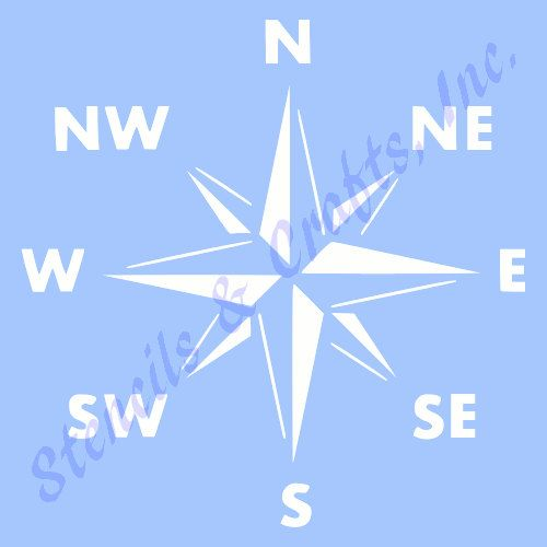 "COMPASS STENCIL NAUTICAL ocean sea marine beach craft stencils template templates background pattern new reusable 12"" x 12"" free shipping"
