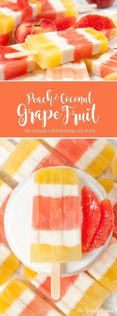 These peach and grapefruit ice pops are a delicious summer treat. They are the perfect mix of sweet and slightly tart while being refreshing.