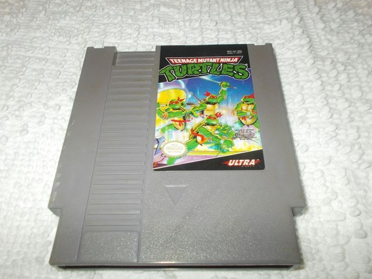 Nintendo NES Teenage Mutant Ninja Turtles TMNT Video Game Cartridge Authentic