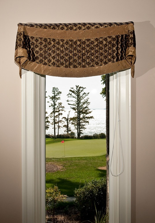 banded curved bottom bell valance window treatment valances by unusual designs pinterest. Black Bedroom Furniture Sets. Home Design Ideas