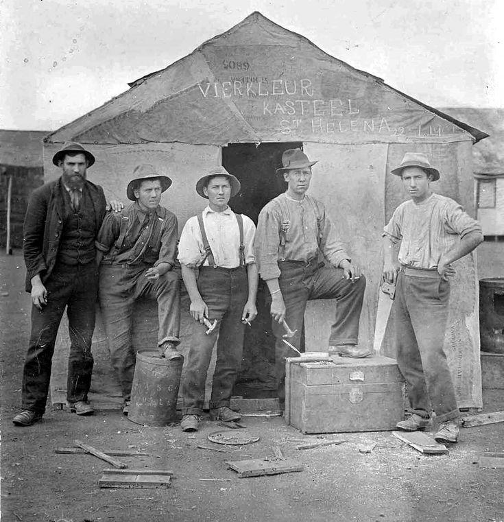 Carpenters (Vierkleur Kasteel translates as Four Colour Castle) Saint Helena Island Info Boer Prisoners