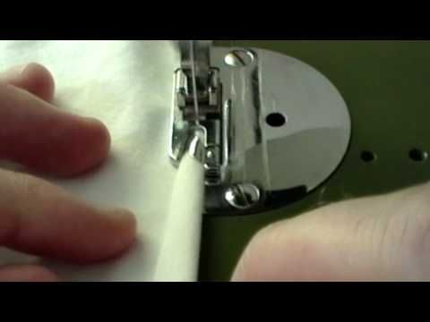 Another Pinner Says: totally just mastered the rolled hem foot because of this video! Yes!