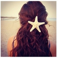 Starfish in hair