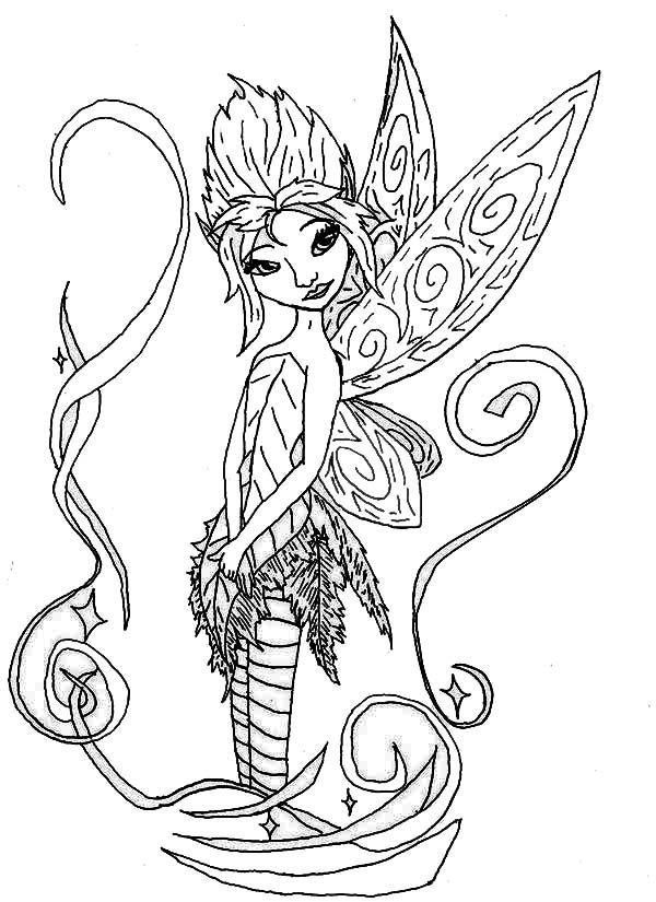 flower pixies coloring pages - photo#18