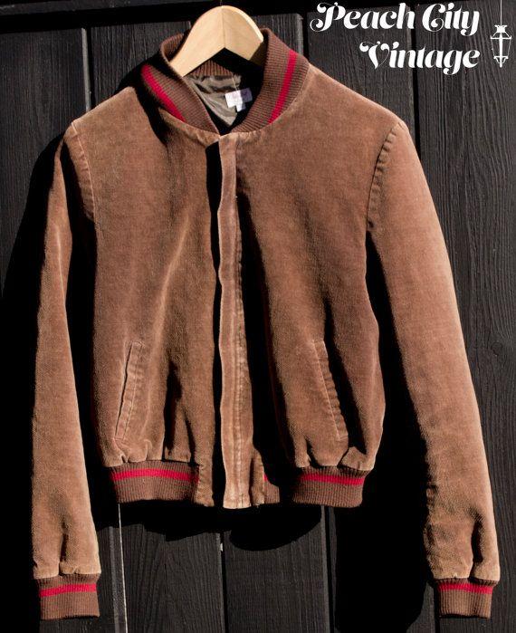 Brown Bolero Bomber Style Light Jacket by PeachCityVintage on Etsy