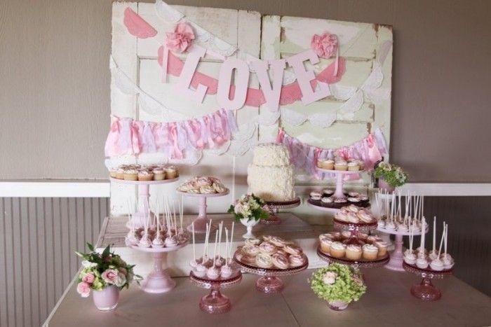 Sweetheart Pink Dessert Table, Hidden Meadows Snohomish