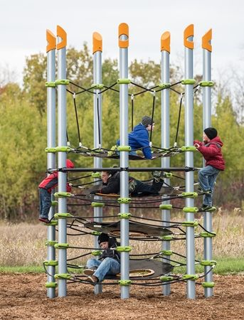 disc net climber climbing core structure for kids commercial playground - Commercial Playground Equipment