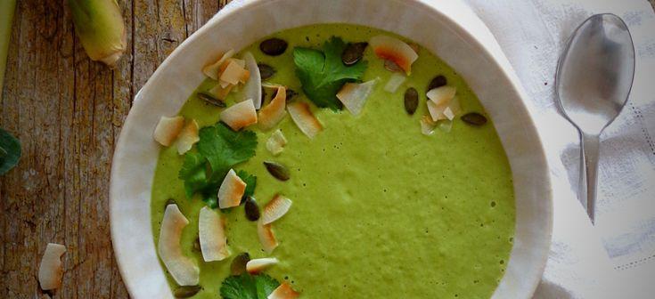 Creme de brócolos com gengibre e erva-príncipe / Broccoli creamy soup with ginger and lemon grass – My tiny green kitchen