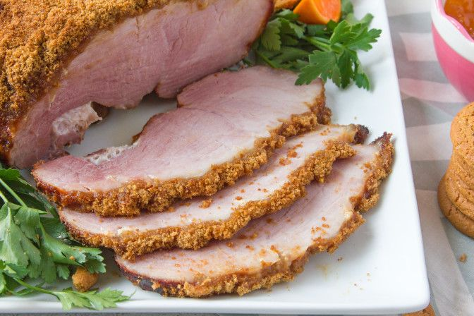 Gingersnap Crusted Ham