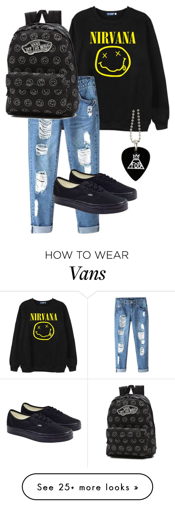 """Nirvana."" by annasoutfit on Polyvore featuring Chicnova Fashion and Vans"