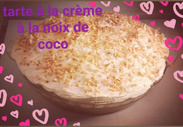 #coconut #tarte #coconutpie #tartecremenoixcoconut #coconutcreampie #pie