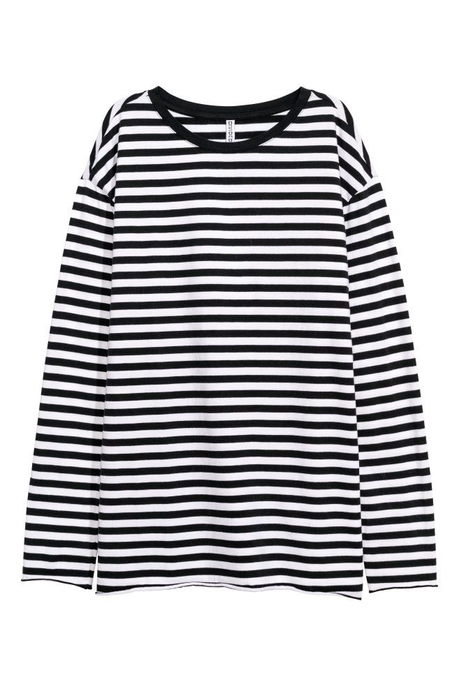 a51e605d6296c9 H&M Oversized Jersey Top - Black in 2019 | Clothes | Black tops ...