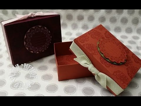 Video tuto Gift Box with envelope punch board