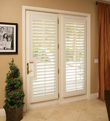 French doorwindow treatments window fashions for Blinds for french doors ideas
