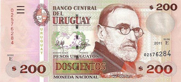 Mata Wang Uruguay (UYU) 200 Pesos Uruguayos #matawang #uruguay