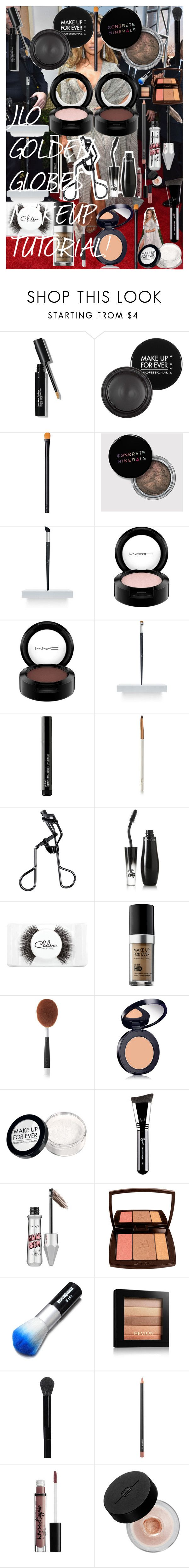"""JLO GOLDEN GLOBES MAKEUP TUTORIAL!"" by oroartye-1 on Polyvore featuring beauty, Bobbi Brown Cosmetics, MAKE UP FOR EVER, NARS Cosmetics, Christian Dior, MAC Cosmetics, Wet n Wild, lilah b., Tweezerman and Lancôme"