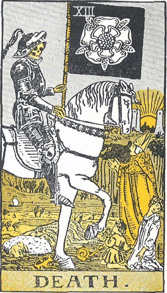 'Death' Card From The Rider-Waite Tarot Deck; Illustrated