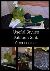 Useful Stylish Kitchen Sink Accessories ~ Do you find the kitchen sink area can look pretty cluttered at times? I decided that the kitchen sink area does not have to look cluttered and I came up with my own idea for useful stylish kitchen sink accessories.