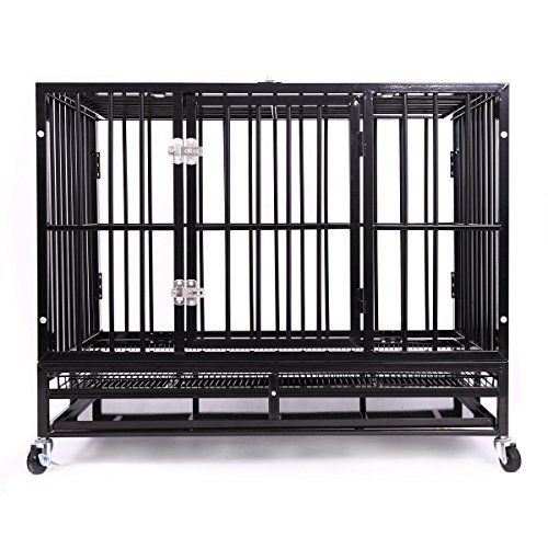 After re-strengthening the packaging, Haige Pet heavy duty dog crates Return of the King. 1. Color: Black Shiny 2. Overall Dimensions: 42.5