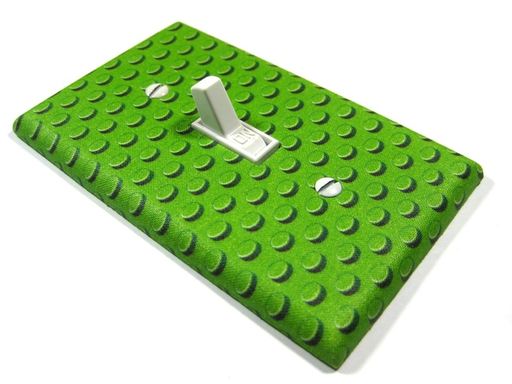 Green lego bedroom decor light switch cover boys nursery for Decoration lego