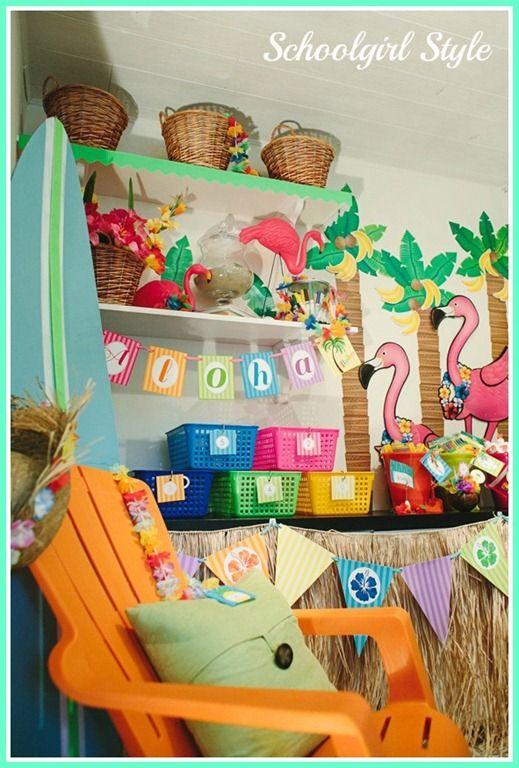 Classroom Luau Ideas ~ Schoolgirl style s classroom luau theme features ctp