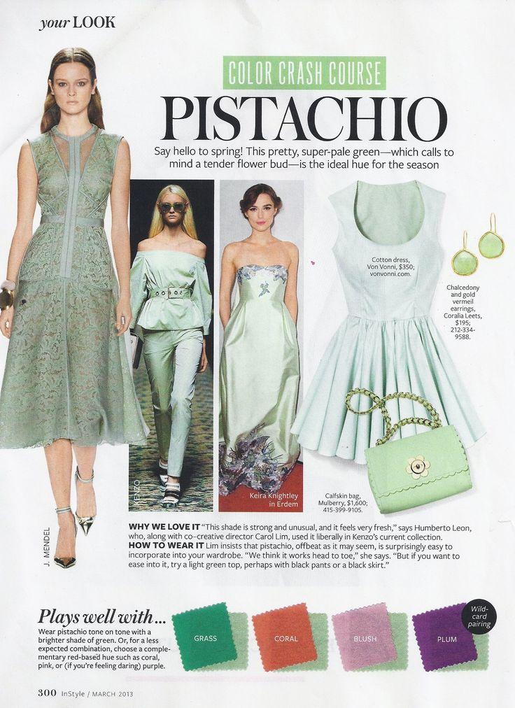 #instyle #colorcrashcourse #pistachio