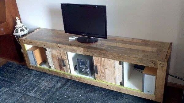 Pallet tv unit home pinterest tvs pallet tv and tv for Diy pallet tv stand instructions