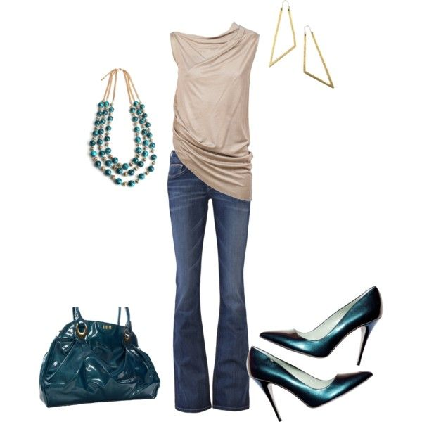 """Gold and Turquoise"" by jessicab923 on Polyvore"