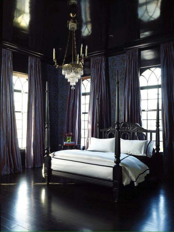 Gothic Victorian Bedroom Check us out on Fb- Unique Intuitions #uniqueintuitions #gothic #bedroom
